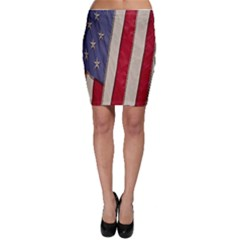 Usa Flag Bodycon Skirt
