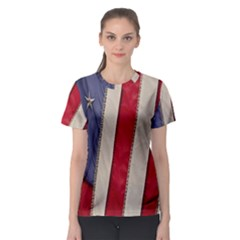 Usa Flag Women s Sport Mesh Tee