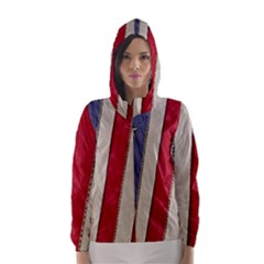 Usa Flag Hooded Wind Breaker (women)
