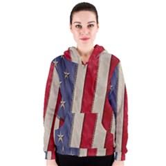 Usa Flag Women s Zipper Hoodie
