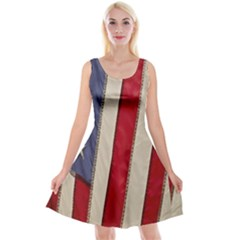 Usa Flag Reversible Velvet Sleeveless Dress