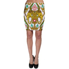 Traditional Thai Style Painting Bodycon Skirt
