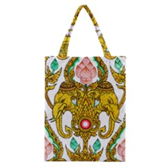 Traditional Thai Style Painting Classic Tote Bag