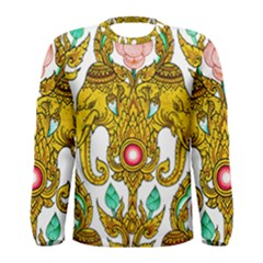 Traditional Thai Style Painting Men s Long Sleeve Tee