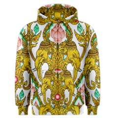 Traditional Thai Style Painting Men s Zipper Hoodie