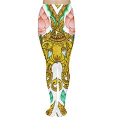 Traditional Thai Style Painting Women s Tights