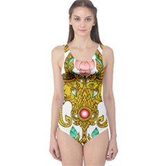 Traditional Thai Style Painting One Piece Swimsuit