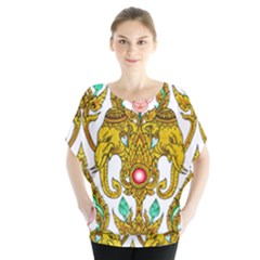 Traditional Thai Style Painting Blouse