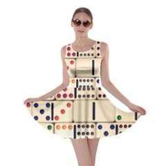 Old Domino Stones Skater Dress