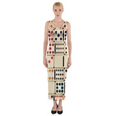 Old Domino Stones Fitted Maxi Dress