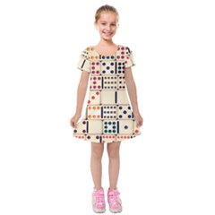 Old Domino Stones Kids  Short Sleeve Velvet Dress