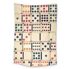 Old Domino Stones Large Tapestry