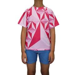 3d Pattern Experiments Kids  Short Sleeve Swimwear