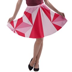 3d Pattern Experiments A-line Skater Skirt