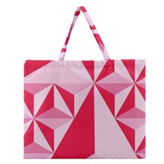 3d Pattern Experiments Zipper Large Tote Bag
