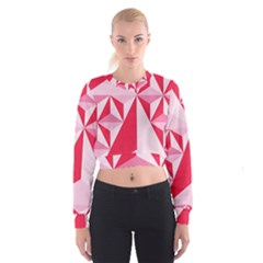 3d Pattern Experiments Women s Cropped Sweatshirt