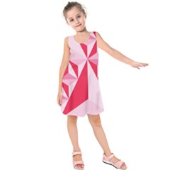 3d Pattern Experiments Kids  Sleeveless Dress