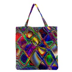 Abstract Digital Art Grocery Tote Bag