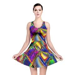 Abstract Digital Art Reversible Skater Dress