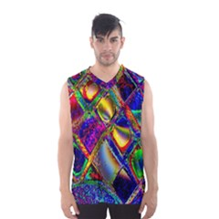 Abstract Digital Art Men s Basketball Tank Top