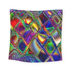 Abstract Digital Art Square Tapestry (small)