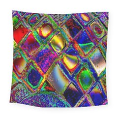 Abstract Digital Art Square Tapestry (Large)