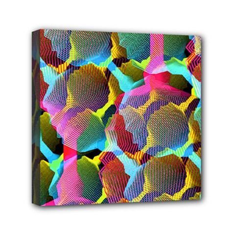3d Pattern Mix Mini Canvas 6  x 6