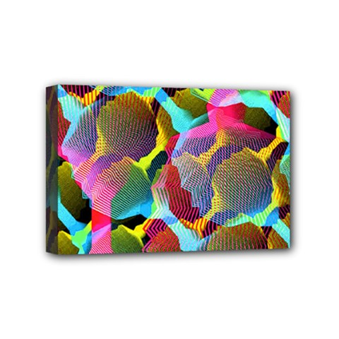 3d Pattern Mix Mini Canvas 6  X 4