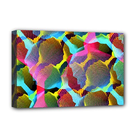 3d Pattern Mix Deluxe Canvas 18  X 12
