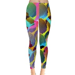 3d Pattern Mix Leggings