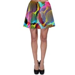 3d Pattern Mix Skater Skirt