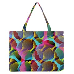 3d Pattern Mix Medium Zipper Tote Bag