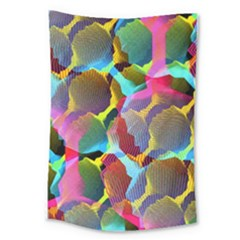 3d Pattern Mix Large Tapestry