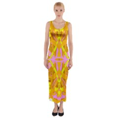 Yellow Brick Road Fitted Maxi Dress
