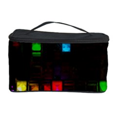 Abstract 3d Cg Digital Art Colors Cubes Square Shapes Pattern Dark Cosmetic Storage Case