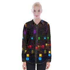 Abstract 3d Cg Digital Art Colors Cubes Square Shapes Pattern Dark Shirts