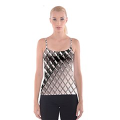3d Abstract Pattern Spaghetti Strap Top