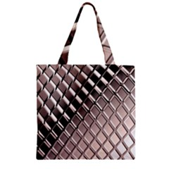 3d Abstract Pattern Zipper Grocery Tote Bag