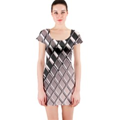 3d Abstract Pattern Short Sleeve Bodycon Dress