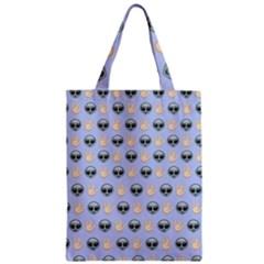 Alien Pattern Zipper Classic Tote Bag
