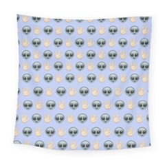 Alien Pattern Square Tapestry (Large)