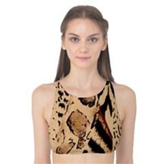 Animal Fabric Patterns Tank Bikini Top