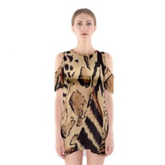 Animal Fabric Patterns Shoulder Cutout One Piece