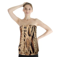 Animal Fabric Patterns Strapless Top
