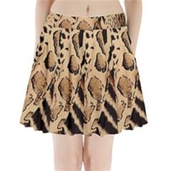 Animal Fabric Patterns Pleated Mini Skirt