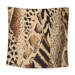 Animal Fabric Patterns Square Tapestry (Large)