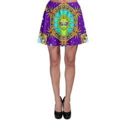 Alien Mandala Skater Skirt