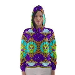 Alien Mandala Hooded Wind Breaker (Women)