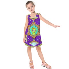 Alien Mandala Kids  Sleeveless Dress