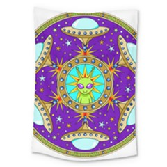 Alien Mandala Large Tapestry